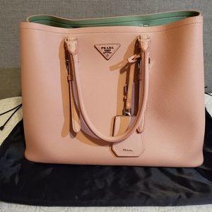Pink prada large tote bag
